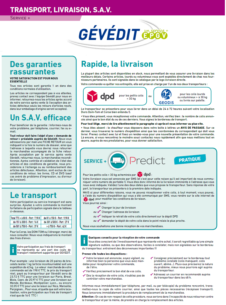 Gévédit Transport 2018